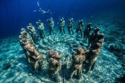 BASK Nest – Underwater Sculpture by world renowned Jason DeCaires Taylor